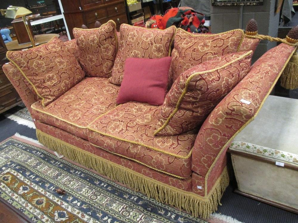 Surprising A Two Seater Knole Sofa With Pine Cone Finials Upholstered Inzonedesignstudio Interior Chair Design Inzonedesignstudiocom