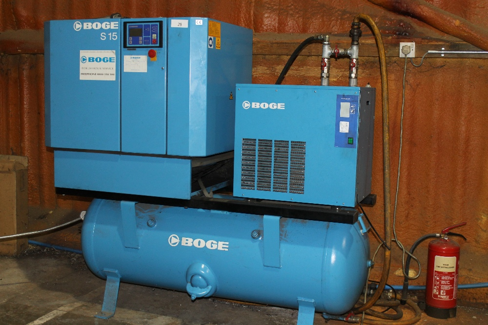 boge screw compressor s15 with dryer with operators manual lift out ch rh i bidder com Boge Compressors S 271 Boge Compressors Logo