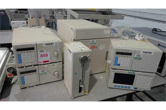 Shimadzu HPLC System including SPD-10A UV-VIS Detector, SCL