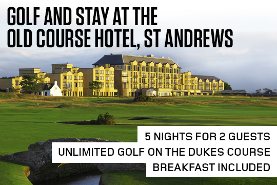Lot 4 - Five-night stay and unlimited golf at the world famous Old Course Hotel in St Andrews