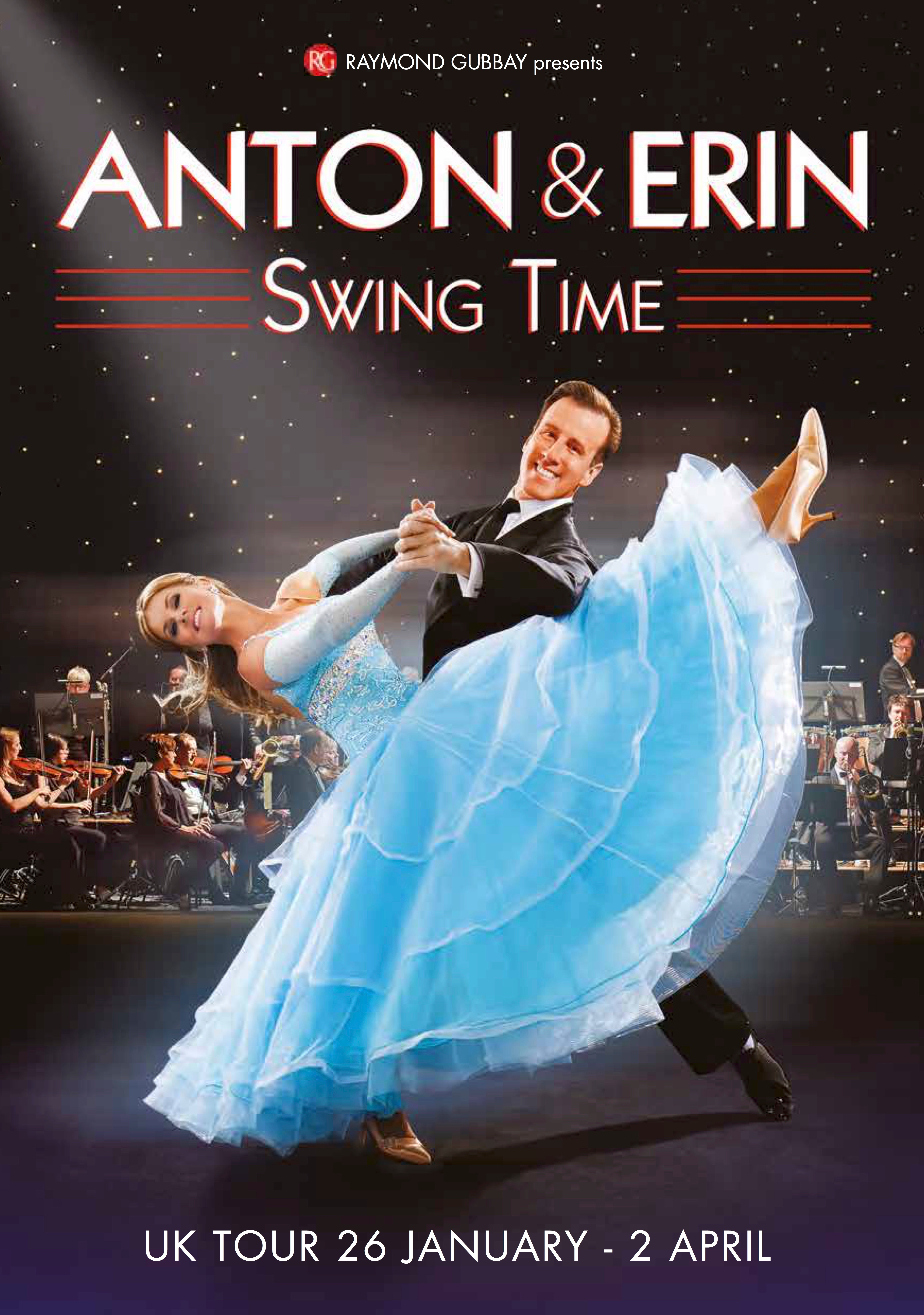 Lot 11 - Strictly Come Dancing Star Anton du Beke invites 2 guests to meet him on his tour of Swing Time