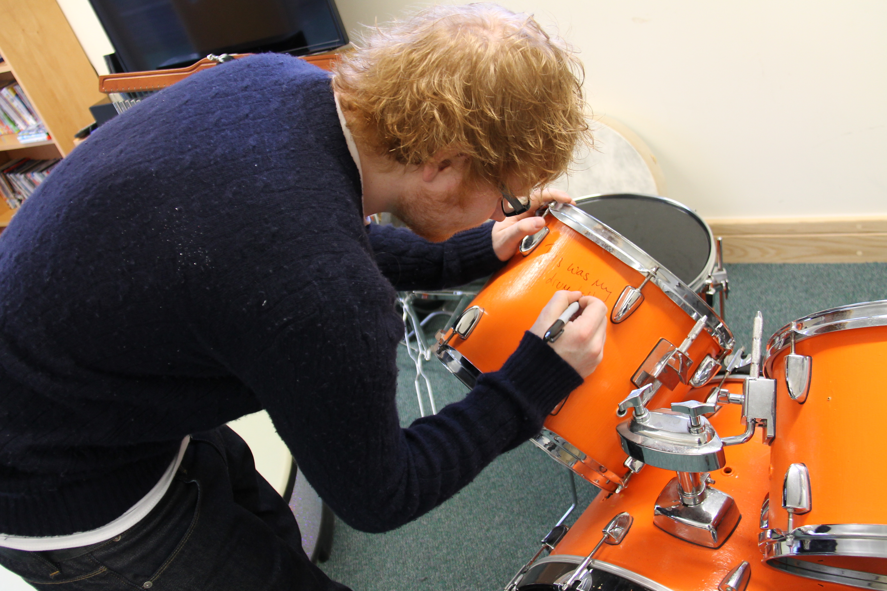 Ed Sheeran's teenage drum kit – own a piece of memorabilia which Ed will sign to the winning bidder