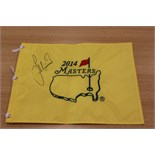Lee Westwood OBE personally donates a signed Masters 2014 pin flag
