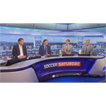 Gillette Soccer Saturday studios for two guests watching Jeff Stelling and the team