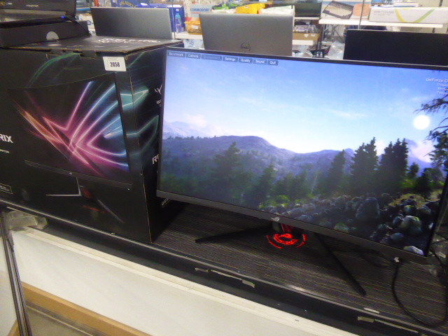 R.O.G. Strix XG32V curved gaming monitor 144hz complete with power supply, stand and box