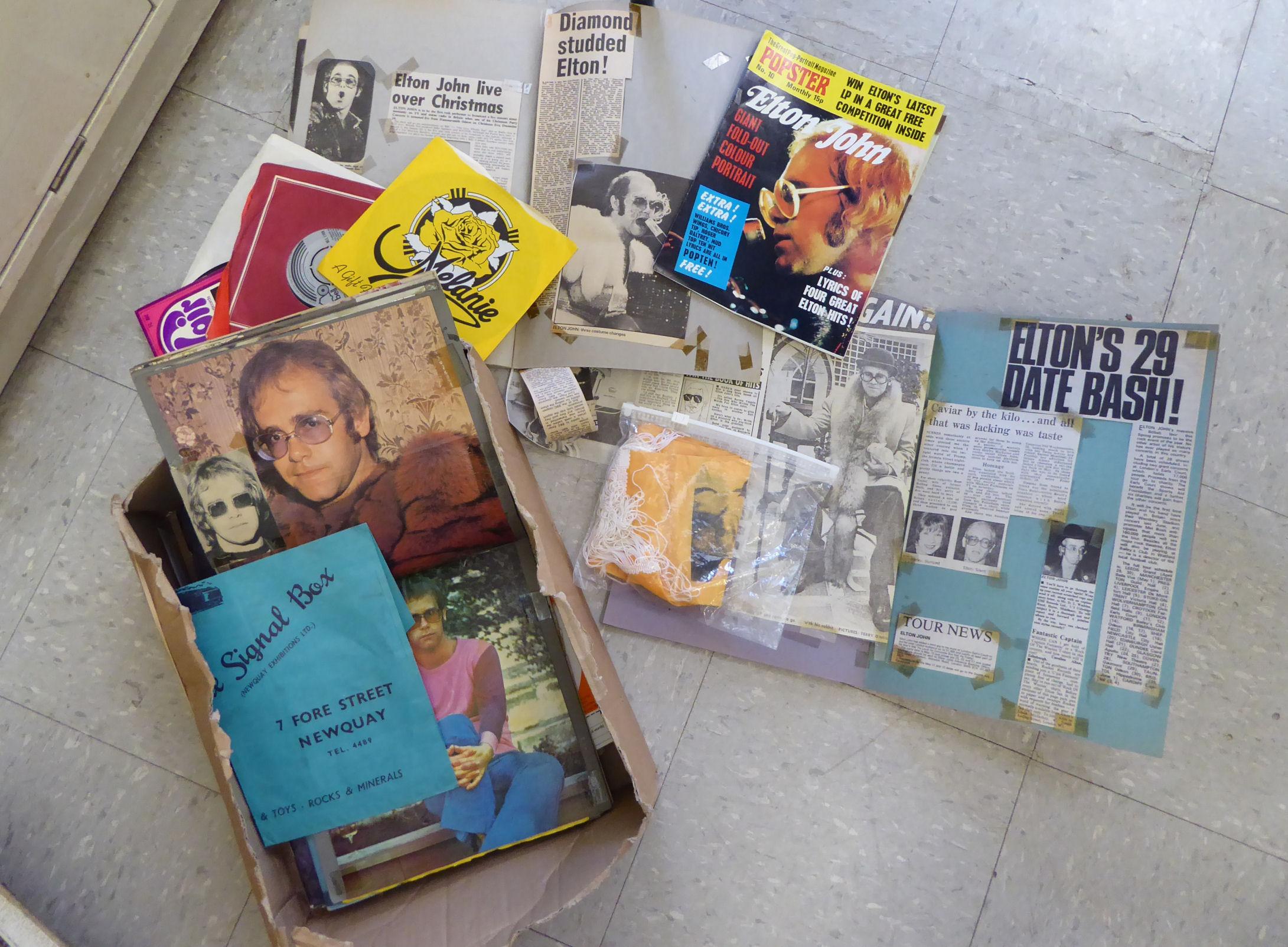 Lot 36 - Elton John related ephemera: to include 'Popster' magazine 1972 CA