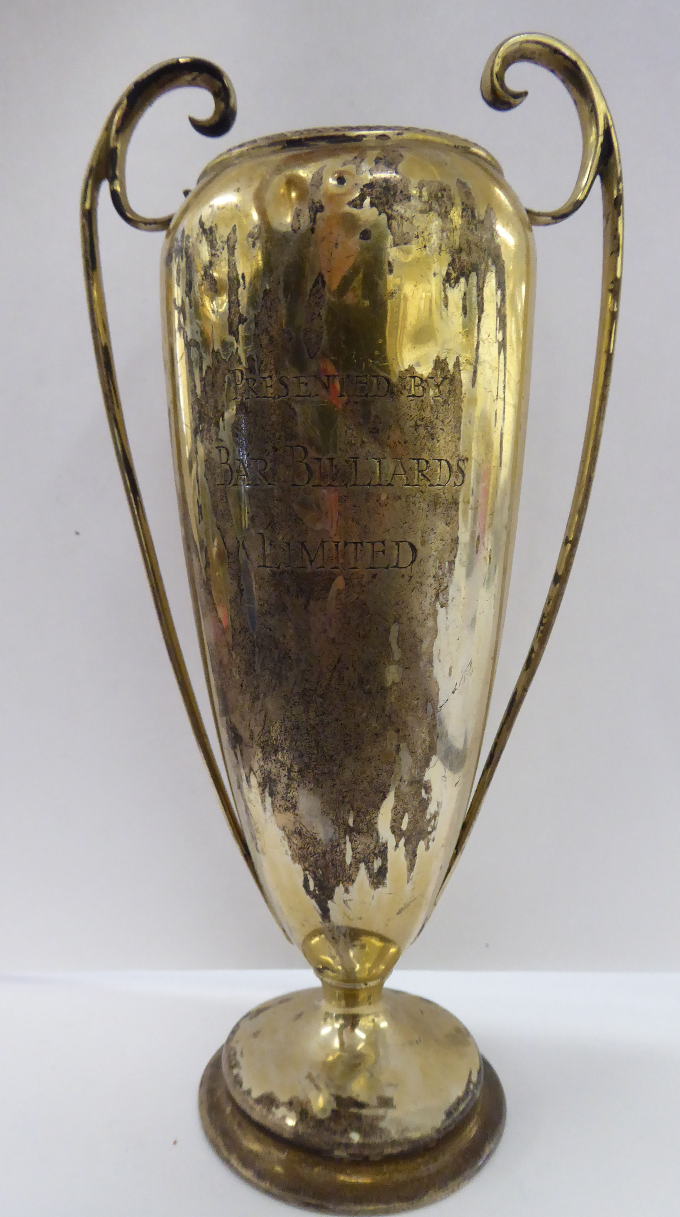 Lot 24 - A silver twin handled vase,