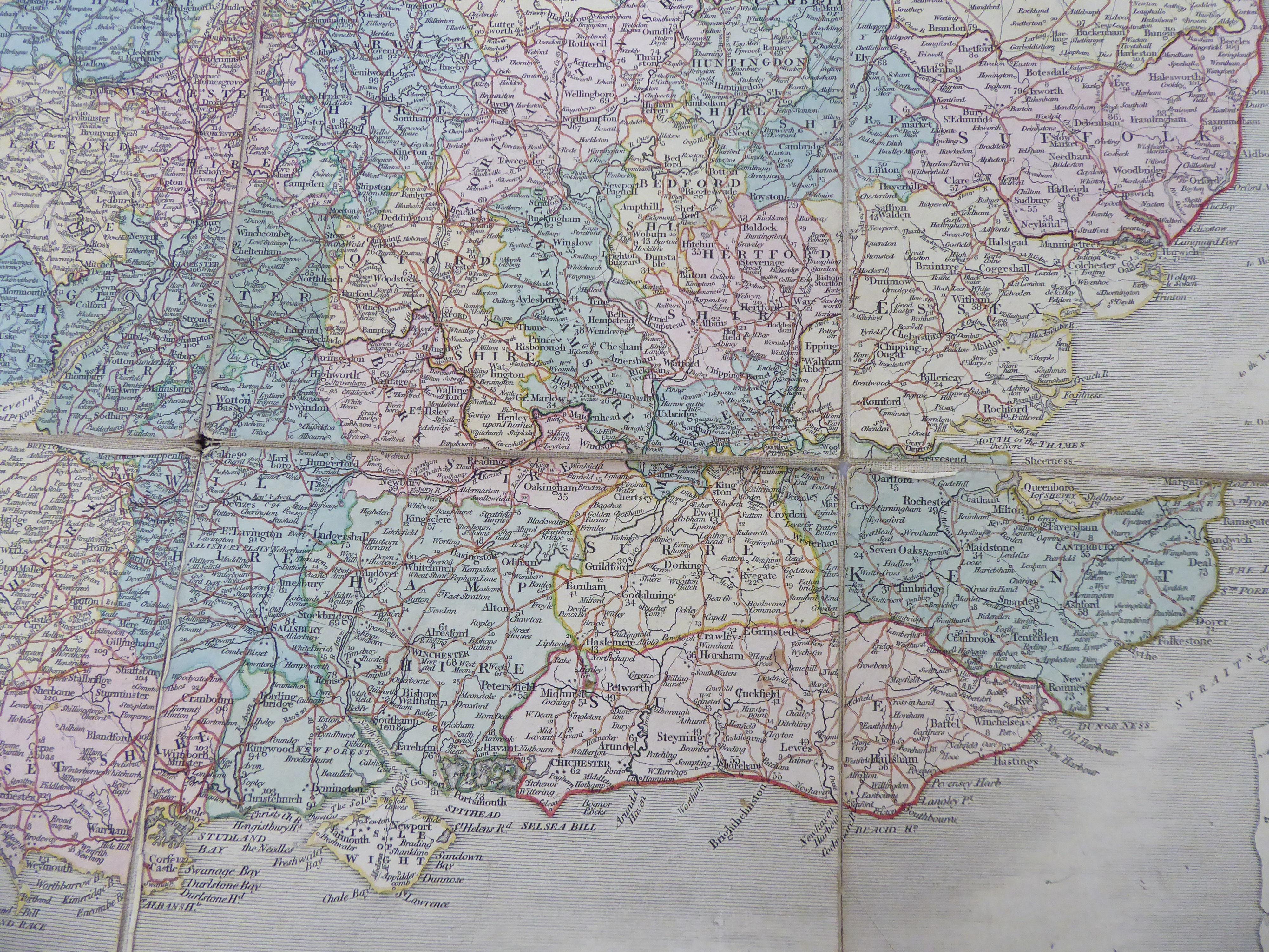 Lot 32 - A George III John Cary printed coloured map,