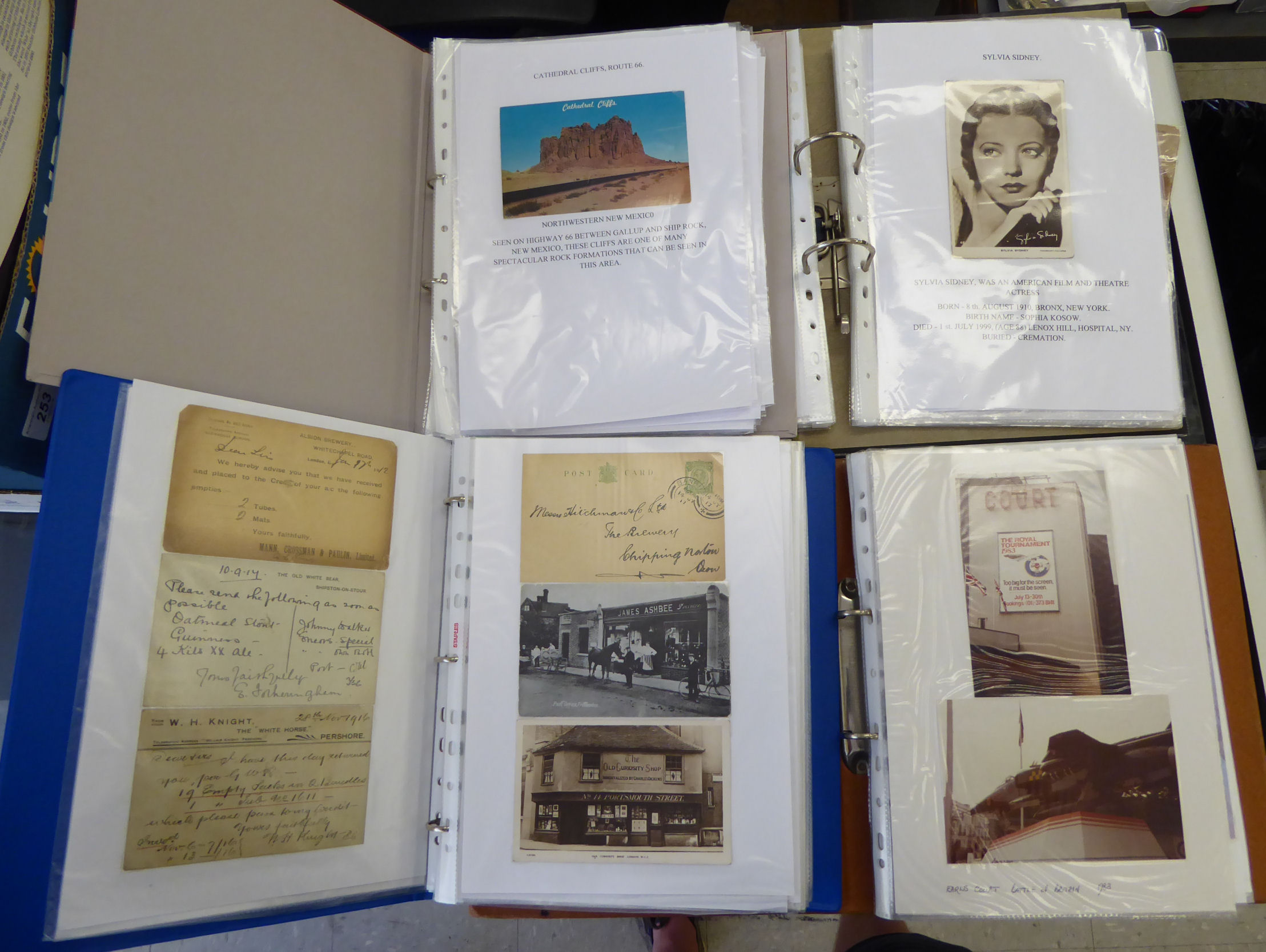 Lot 11 - Uncollated postcards, mainly French, aviation, war and landscapes,