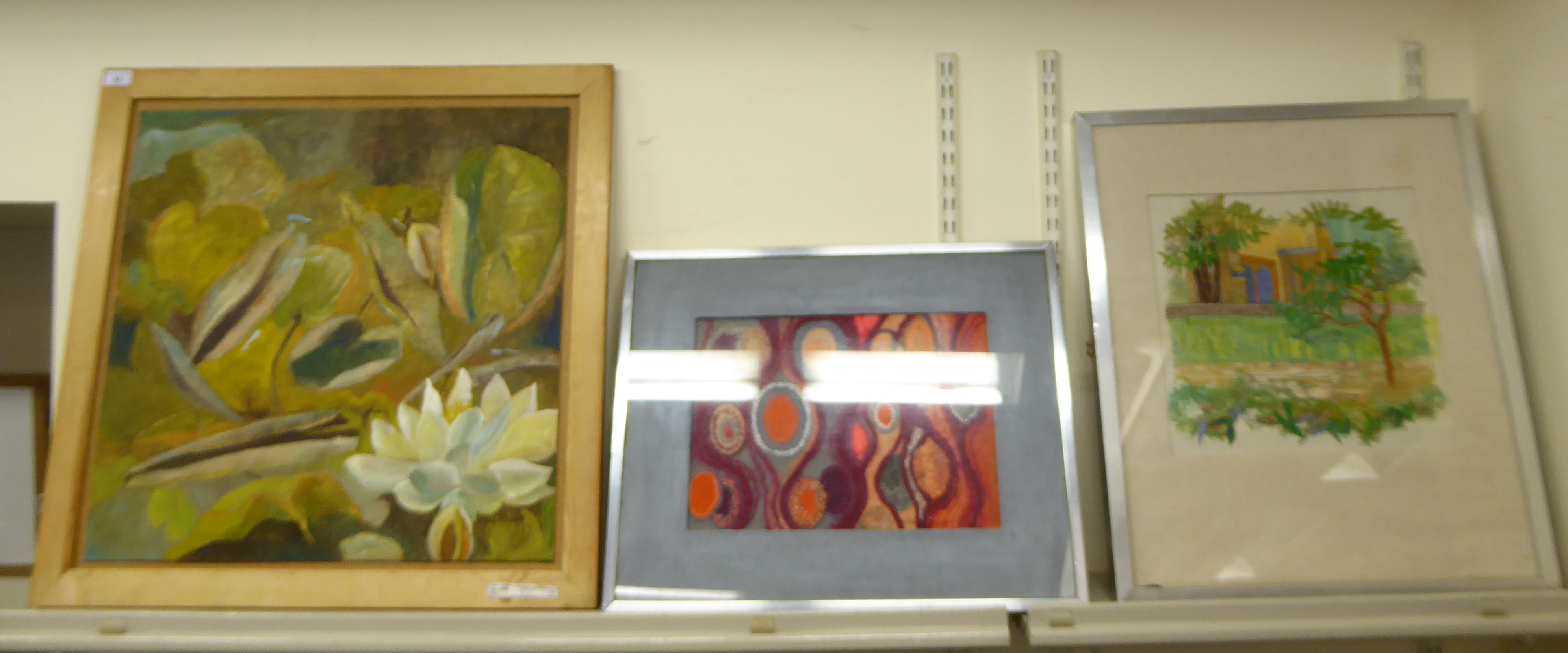 Lot 42 - Three works by Dora Hurst - 'Sumac Tree' 16'' x 24''; 'Growth Rhythm' 19'' x 15'';