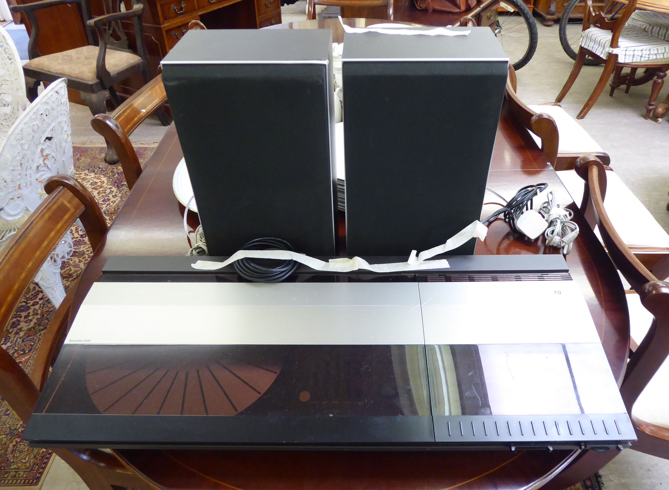 Lot 10 - A Bang & Olufsen Beocenter 2200 record player;