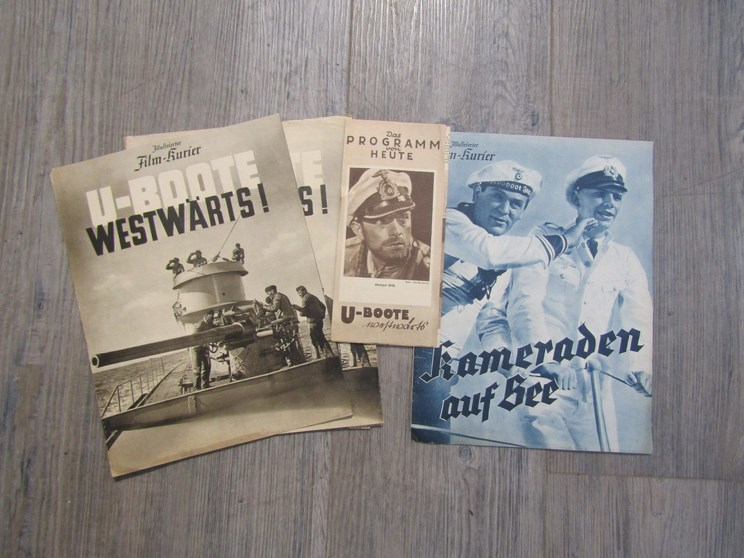 Lot 8060 - Three Third Reich era German Nazi propaganda movie programmes of a naval and U Boat theme