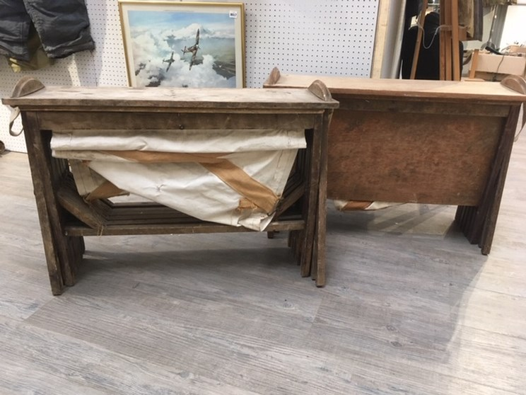 Lot 8020 - Two early 20th Century WWI era officer's camp beds a/f