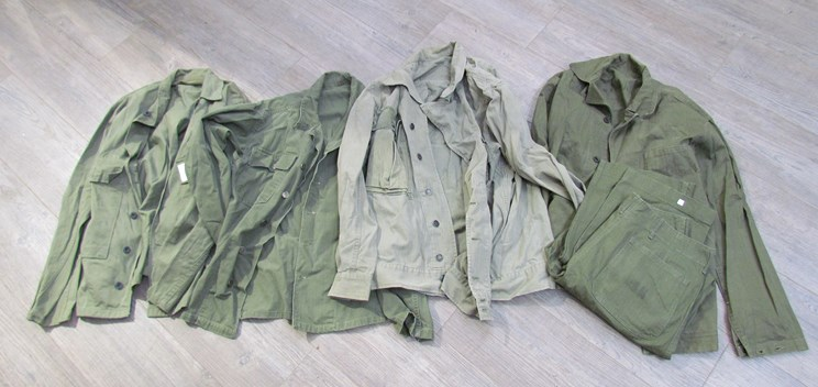 Lot 8051 - A quantity of hemmingbone twill US clothing including Navy and Army