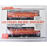Boxed 0 gauge 3-rail Lionel Southern Pacific Daylight Diesel Engine and Dummy unit