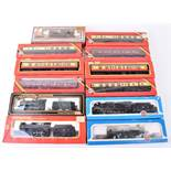 Various 00 gauge locomotives and coaches