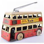 Scarce Betal Clockwork Tin-plate General Transport Trolley Bus