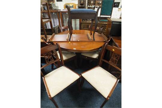 A REPRODUCTION MAHOGANY DINING TABLE U0026 SIX CHAIRS BY BRIGHTS OF NETTLEBED