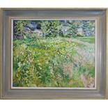 **Mary Martin (20th/21st century) MARSH FLOWERS AT COTEHELE MILL Signed oil on hardboard, 45 x 55cm,
