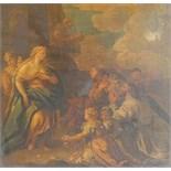 "Follower of Francesco Trevisani, 18th century ""SCENE FROM MONTESQUIEU'S TEMPLE DE GUIDE""."