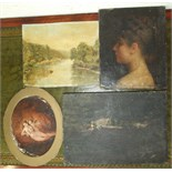 19th century English School HEAD AND SHOULDERS PORTRAIT OF A YOUNG LADY Oil on canvas, 24 x 20cm, (