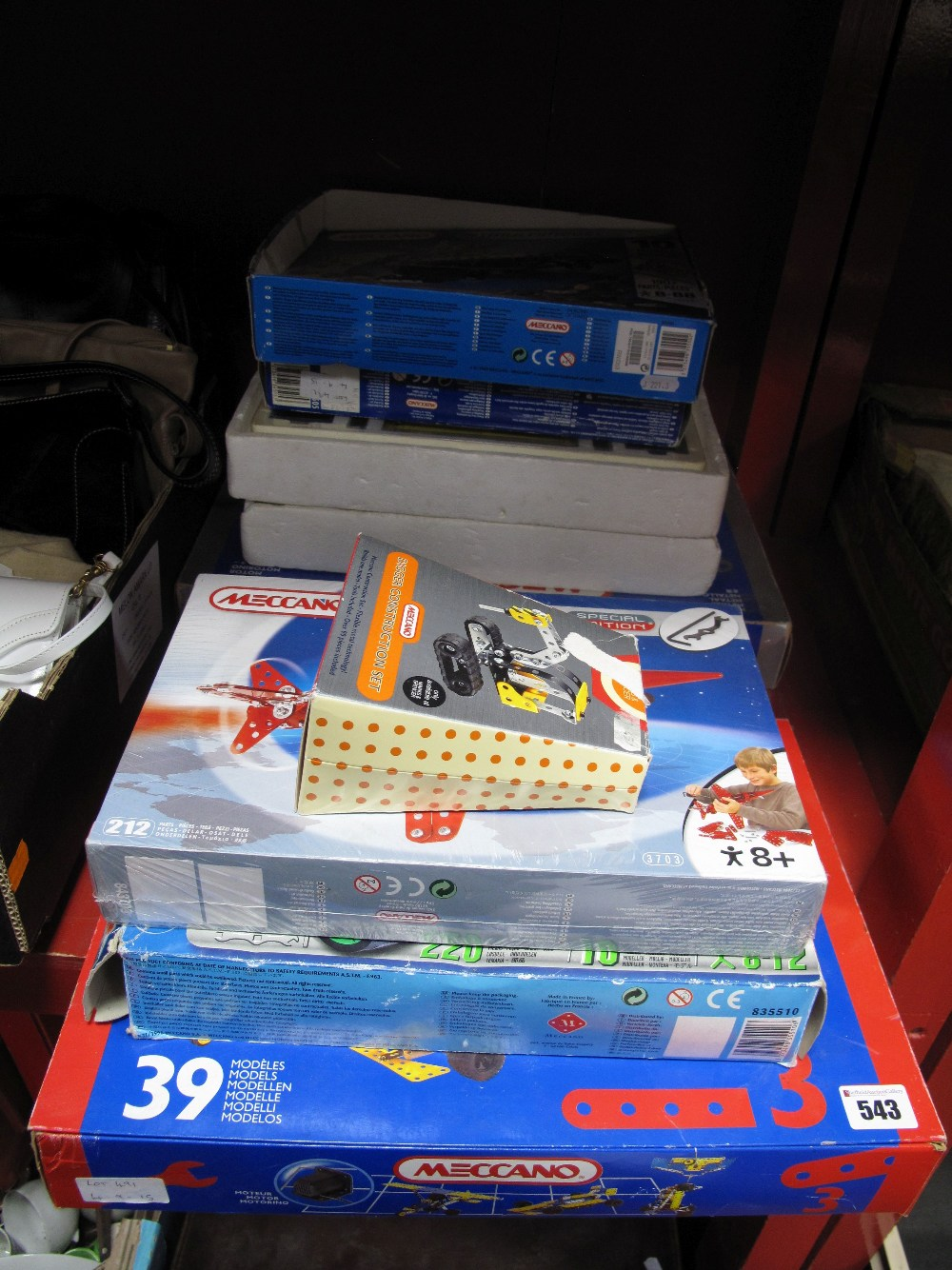 Lot 543 - A Quantity of Modern Meccano Sets and accessories including No. 3, No. 5, Red Arrow Special Edition,