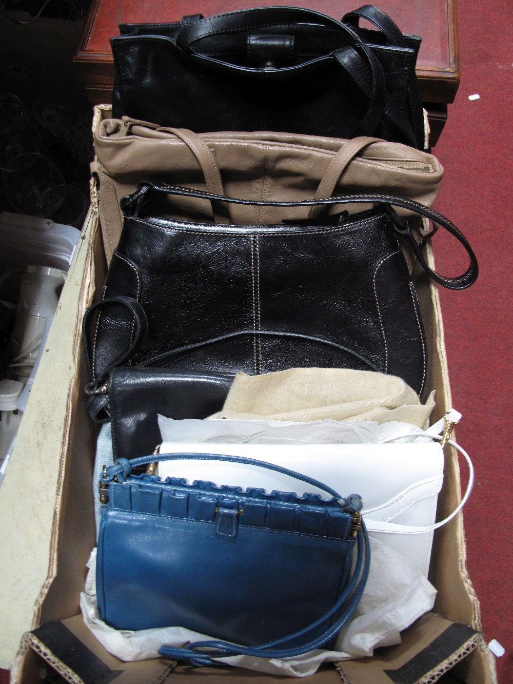 Lot 544 - Kurt Geiger and Other Ladies Leather Handbags. (6)