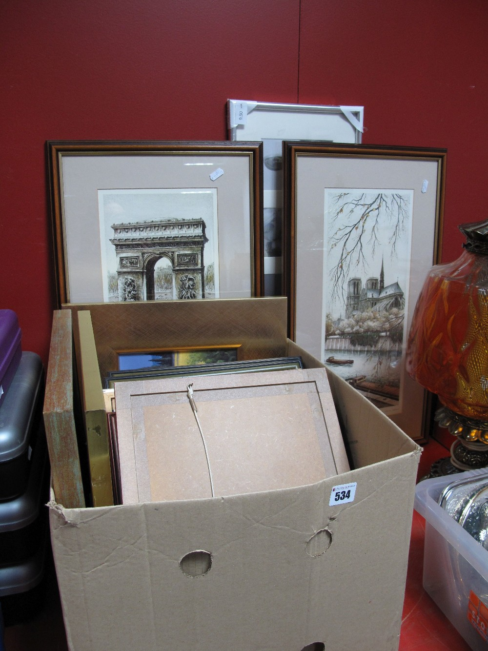 Lot 534 - Philip Martin and Many Other Prints:- One Box and a larger French pair.