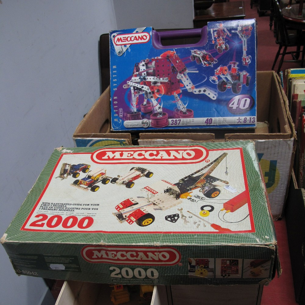 Lot 570 - Meccano Interest - Mostly Modern, including Motion System 8540, No. 2000 and much loose.