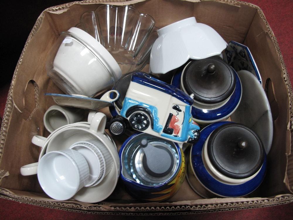 Lot 567 - Storage Jars, Soup Bowls, etc:- One Box