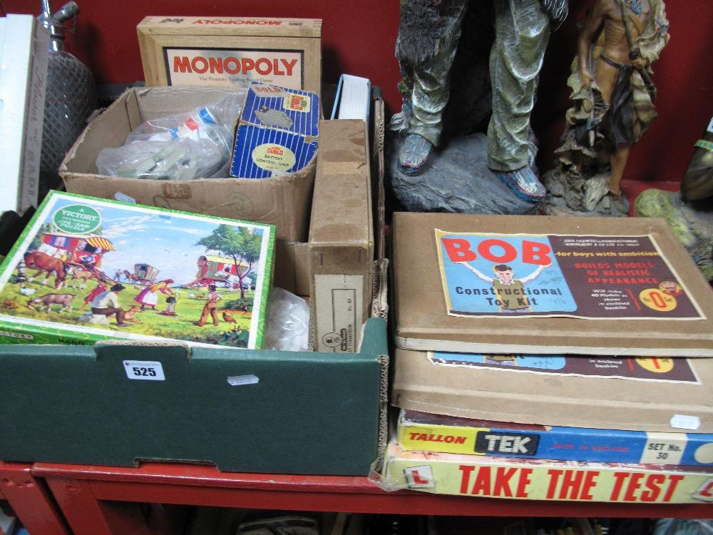 Lot 525 - Roy Toys 'Bob Constructional' Sets, No. 1 and No. 0, Tallon Tek Set No. 30, further construction