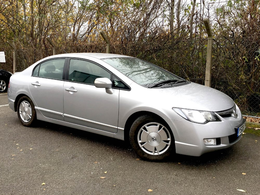 Lot 517 - 2008/08 (YS08 FYD) Honda Civic Hybrid 4-door saloon 1.4 i-Dsi EX IMA CVT Automatic in Silver with
