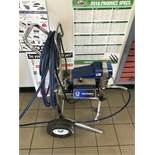 Graco #230PC Airless Paint Sprayer w/Rental Zip Accessories Mounted on Wall