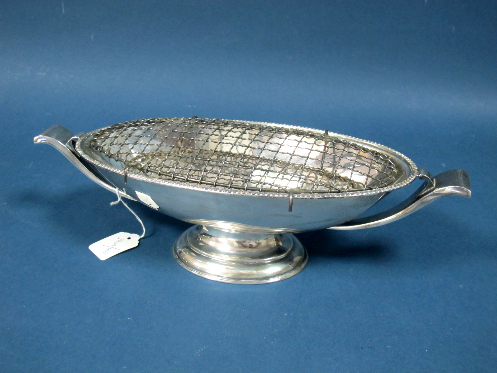 Lot 15 - A Hallmarked Silver Posy Bowl, Mappin & Webb, Sheffield 1973, of elongated oval form,