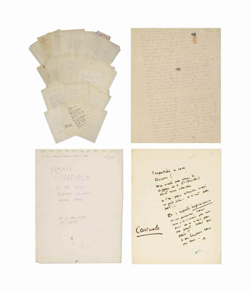 Lot 43 - Antoine de SAINT-EXUPÉRY (1900-1944). 17 lettres et 9 billets autographes à son épouse Consuelo de