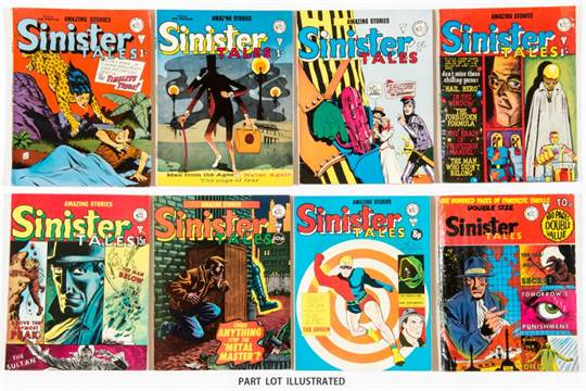 556f7af0 Sinister Tales (1970s Alan Class) 65, 66, 72, 75, 77, 80, 84 (reprints  Tales of Suspense 39: 1st