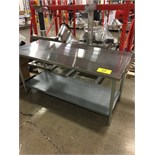 "STAINLESS STEEL 30""X6'X35""H WORK TABLE W/GALVAIZED BOTTOM SHELF (MISSI 