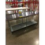 "STAINLESS STEEL 30""X7'X34""H WORK TABLE W/GALVANIZED BOTTOM SHELF 