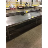 "STAINLESS STEEL 30""X10'X22""H PREP ROOM TABLE W/2 - 100V RECEPTICLES 
