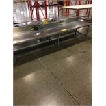 "STAINLESS STEEL 30""X10'X22""H PREP ROOM TABLE W/2 100V RECEPTICLES 