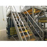 STAINLESS STEEL 4'X19'X10'H APPROX. PLATFORM W/STAIRS & 2 - 5'X5' STAN | RIGGING/LOADING FEE: $100
