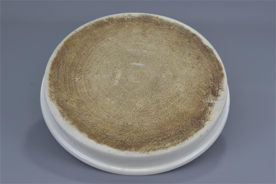 Lot 89 - A LARGE CHINESE MING PORCELAIN BRUSH WASHER ON ZITAN STAND