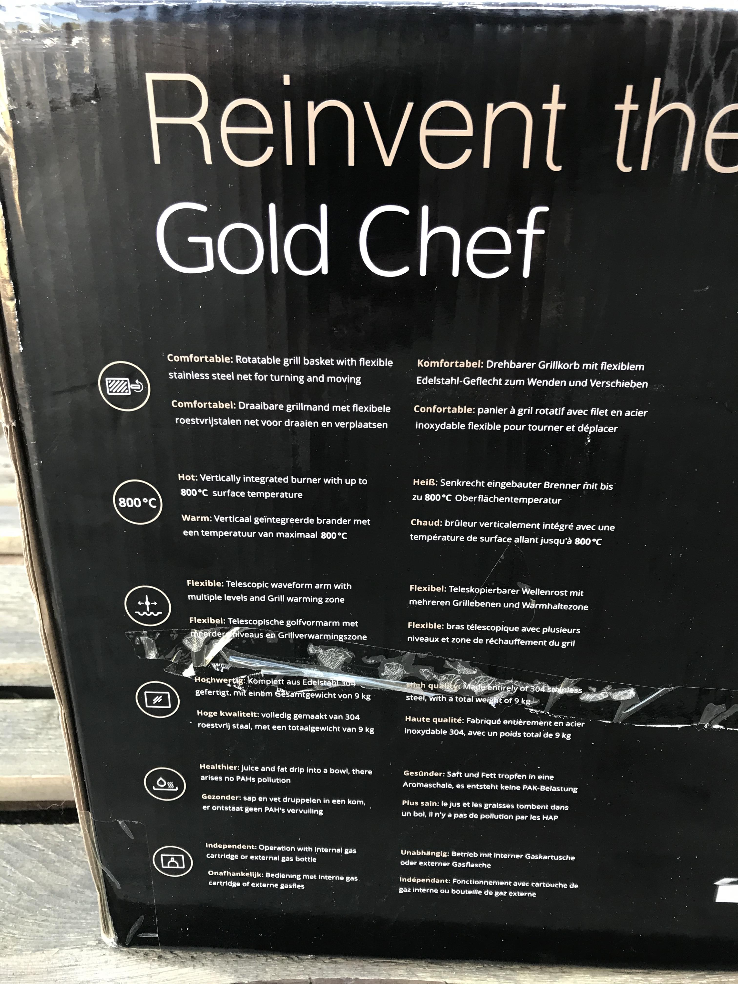 GOLD CHEF TWO 800C ROTISSERIE GRILL - Image 4 of 6
