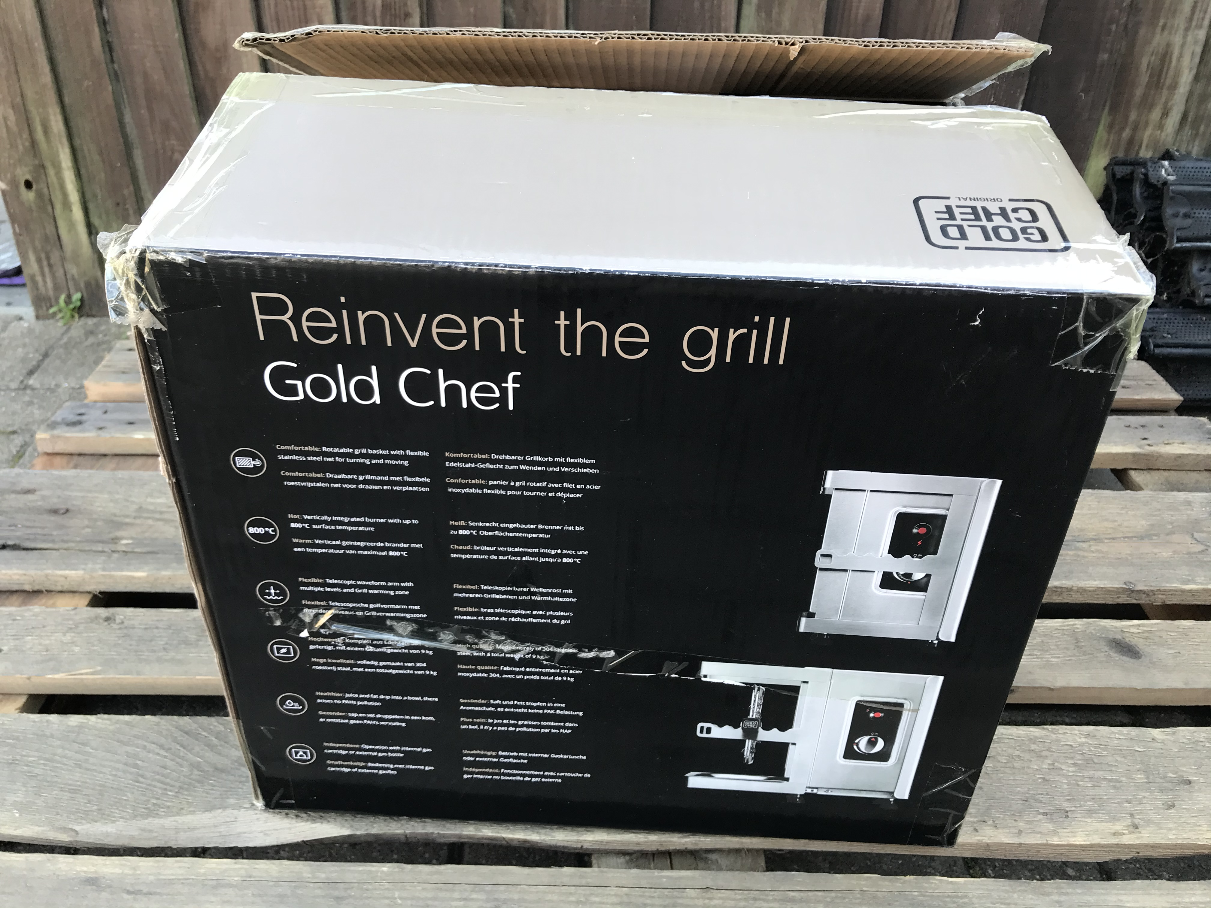 GOLD CHEF TWO 800C ROTISSERIE GRILL - Image 3 of 6