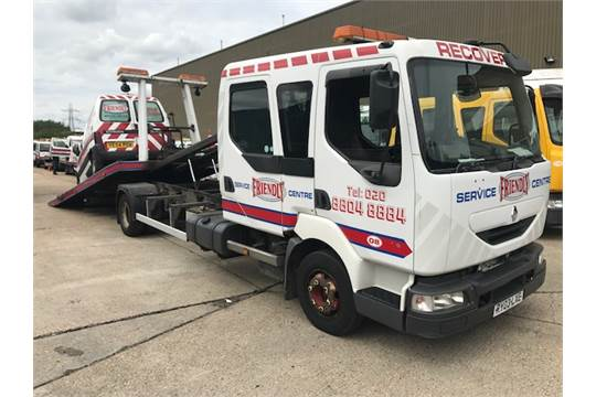 2003 Renault 10t tilt and slide crew cab breakdown recovery
