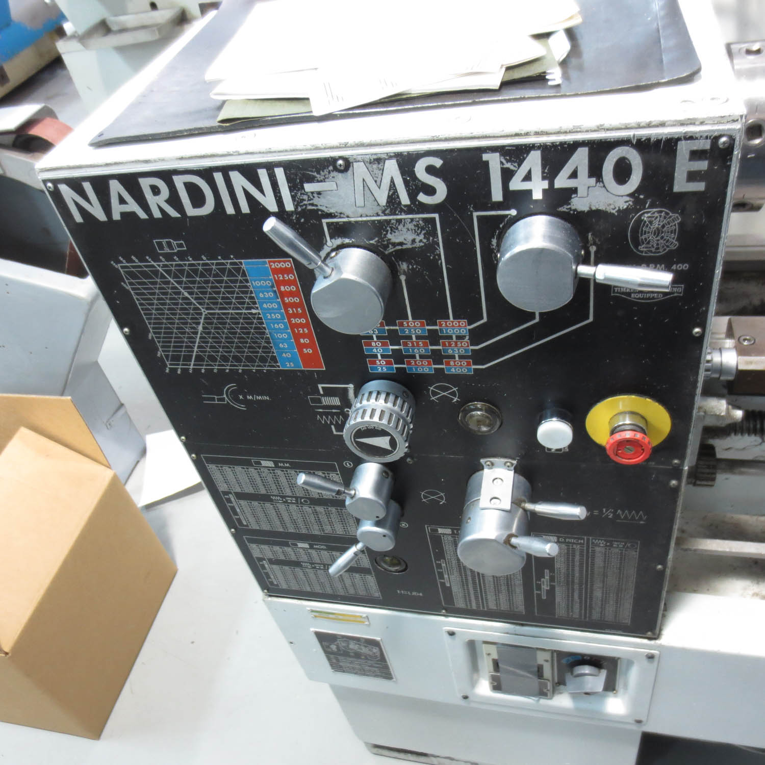 Lot 23 - NARDINI MS 1440E LATHE, 25-2000 SPINDLE SPEEDS, 1-1/2'' HOLE, 7'' SWING, 42'' CENTER TO CENTER,