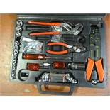 Toll Set Including Sockets, Spanners, Pliers, etc.