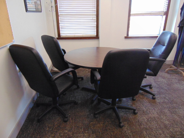 Lot 651 - LOT CONSISTING OF: (2) tables, round table, desk