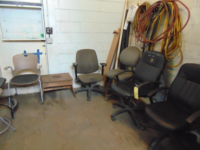 Lot 589 - LOT CONSISTING OF: chairs & cabinets