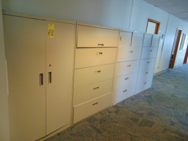 LOT CONSISTING OF: 2-door supply cabinet & (3) lateral file cabinets (located upstairs)